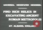 Image of archaeologists Saint Albans England, 1931, second 2 stock footage video 65675059119