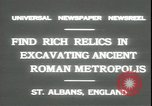 Image of archaeologists Saint Albans England, 1931, second 4 stock footage video 65675059119