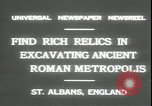 Image of archaeologists Saint Albans England, 1931, second 5 stock footage video 65675059119