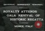 Image of Regatta Storica Venice Italy, 1931, second 1 stock footage video 65675059120
