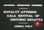 Image of Regatta Storica Venice Italy, 1931, second 8 stock footage video 65675059120