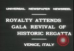 Image of Regatta Storica Venice Italy, 1931, second 9 stock footage video 65675059120