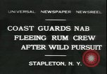 Image of United States Coast Guard liquor seizure during prohibition Stapleton New York USA, 1931, second 1 stock footage video 65675059122