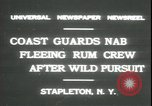 Image of United States Coast Guard liquor seizure during prohibition Stapleton New York USA, 1931, second 3 stock footage video 65675059122