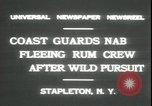 Image of United States Coast Guard liquor seizure during prohibition Stapleton New York USA, 1931, second 6 stock footage video 65675059122