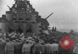 Image of burial at sea Pacific Ocean, 1945, second 12 stock footage video 65675059123