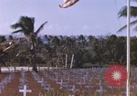 Image of United States flag at World War 2 cemetery Philippines, 1945, second 9 stock footage video 65675059142