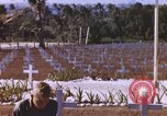 Image of United States flag at World War 2 cemetery Philippines, 1945, second 10 stock footage video 65675059142