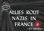 Image of American soldiers Saint Lo France, 1944, second 6 stock footage video 65675059236