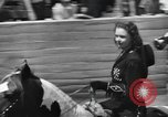Image of rodeo with Gloria Jean Los Angeles California USA, 1944, second 7 stock footage video 65675059242