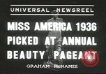 Image of Miss America Atlantic City New Jersey USA, 1936, second 1 stock footage video 65675059250