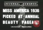 Image of Miss America Atlantic City New Jersey USA, 1936, second 2 stock footage video 65675059250