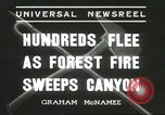 Image of forest fire Topanga California USA, 1936, second 2 stock footage video 65675059251