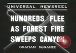 Image of forest fire Topanga California USA, 1936, second 6 stock footage video 65675059251