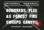 Image of forest fire Topanga California USA, 1936, second 8 stock footage video 65675059251