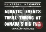 Image of aquatic events Canada, 1936, second 5 stock footage video 65675059258
