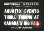 Image of aquatic events Canada, 1936, second 6 stock footage video 65675059258