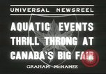 Image of aquatic events Canada, 1936, second 7 stock footage video 65675059258