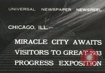 Image of world's fair grounds Chicago Illinois USA, 1932, second 1 stock footage video 65675059261
