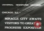 Image of world's fair grounds Chicago Illinois USA, 1932, second 2 stock footage video 65675059261