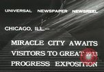 Image of world's fair grounds Chicago Illinois USA, 1932, second 3 stock footage video 65675059261