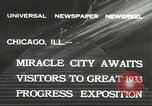 Image of world's fair grounds Chicago Illinois USA, 1932, second 4 stock footage video 65675059261