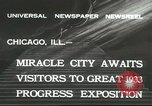 Image of world's fair grounds Chicago Illinois USA, 1932, second 5 stock footage video 65675059261