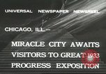 Image of world's fair grounds Chicago Illinois USA, 1932, second 7 stock footage video 65675059261