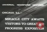 Image of world's fair grounds Chicago Illinois USA, 1932, second 8 stock footage video 65675059261