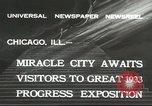 Image of world's fair grounds Chicago Illinois USA, 1932, second 9 stock footage video 65675059261
