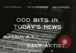 Image of salt painting Buffalo New York USA, 1932, second 1 stock footage video 65675059262