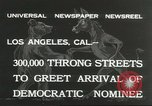 Image of Franklin Roosevelt Los Angeles California USA, 1932, second 3 stock footage video 65675059266