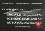 Image of car race Langhorne Pennsylvania USA, 1932, second 1 stock footage video 65675059267