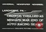 Image of car race Langhorne Pennsylvania USA, 1932, second 2 stock footage video 65675059267