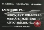 Image of car race Langhorne Pennsylvania USA, 1932, second 3 stock footage video 65675059267