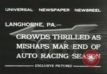 Image of car race Langhorne Pennsylvania USA, 1932, second 4 stock footage video 65675059267