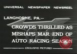 Image of car race Langhorne Pennsylvania USA, 1932, second 7 stock footage video 65675059267