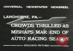 Image of car race Langhorne Pennsylvania USA, 1932, second 8 stock footage video 65675059267