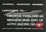 Image of car race Langhorne Pennsylvania USA, 1932, second 9 stock footage video 65675059267