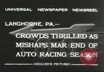 Image of car race Langhorne Pennsylvania USA, 1932, second 11 stock footage video 65675059267