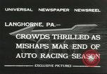 Image of car race Langhorne Pennsylvania USA, 1932, second 12 stock footage video 65675059267