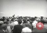 Image of nuclear bomb test briefing press Las Vegas Nevada USA, 1952, second 12 stock footage video 65675059278