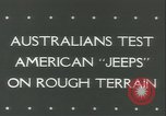 Image of jeep Pacific Theater, 1943, second 2 stock footage video 65675059288