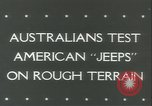 Image of jeep Pacific Theater, 1943, second 4 stock footage video 65675059288