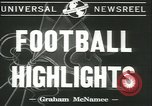 Image of football game New York United States USA, 1941, second 2 stock footage video 65675059334