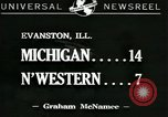 Image of football game Evanston Illinois USA, 1941, second 1 stock footage video 65675059336