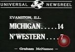 Image of football game Evanston Illinois USA, 1941, second 2 stock footage video 65675059336