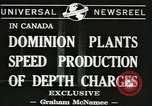 Image of depth charges Canada, 1941, second 2 stock footage video 65675059337