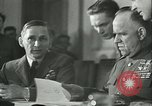 Image of Germany signing documents of unconditional surrender Germany, 1945, second 12 stock footage video 65675059357