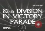 Image of 82nd AirBorne Division homecoming parade New York City USA, 1946, second 1 stock footage video 65675059429